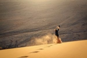Flying down NAMIBIA DUNE