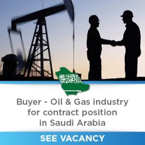 Buyer Oil and Gas Industry Saudi Arabia