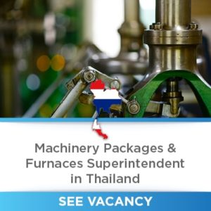machinery vacancy thailand