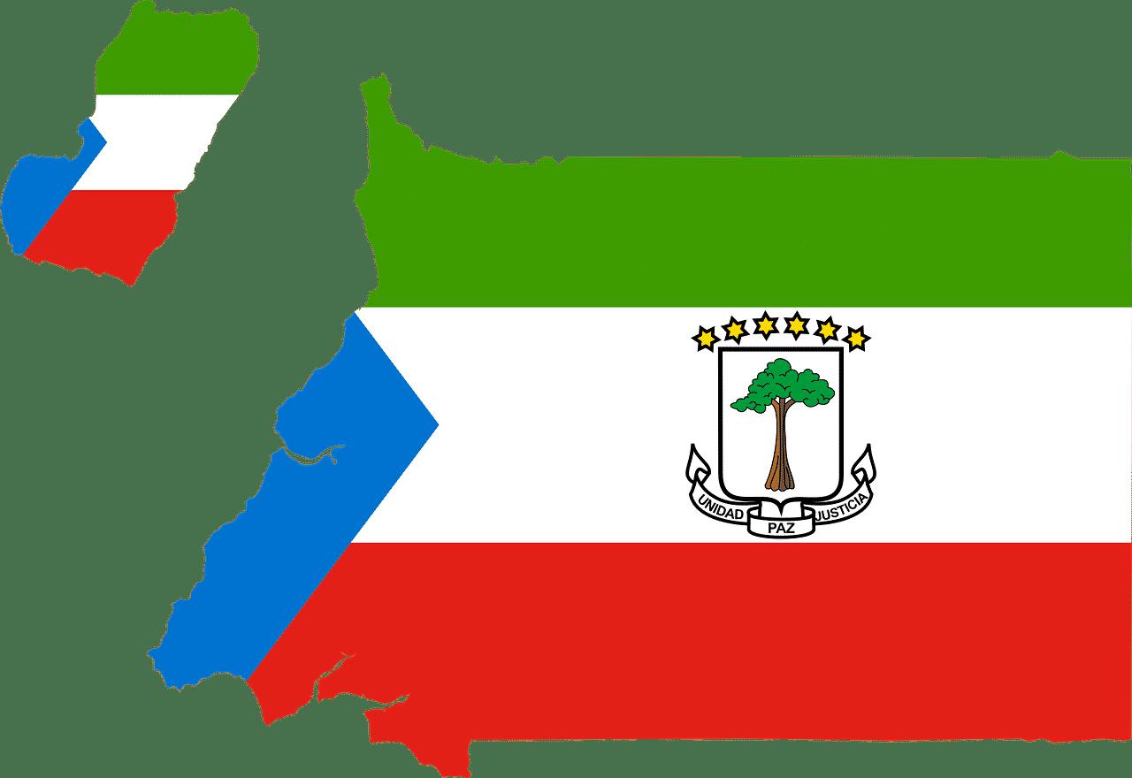 equatorial-guinea flag map